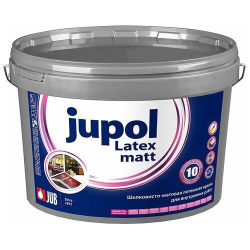 Краска латексная JUB Jupol Latex matt влагостойкая моющаяся матовая белый 4.75 л
