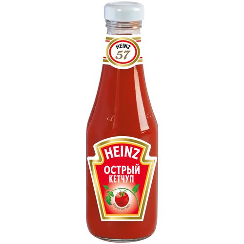 Кетчуп Heinz Острый, стеклянная бутылка 342 г недорого