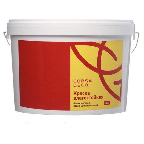Краска акриловая Corsa Deco для стен и потолков влагостойкая матовая белый 14 кг