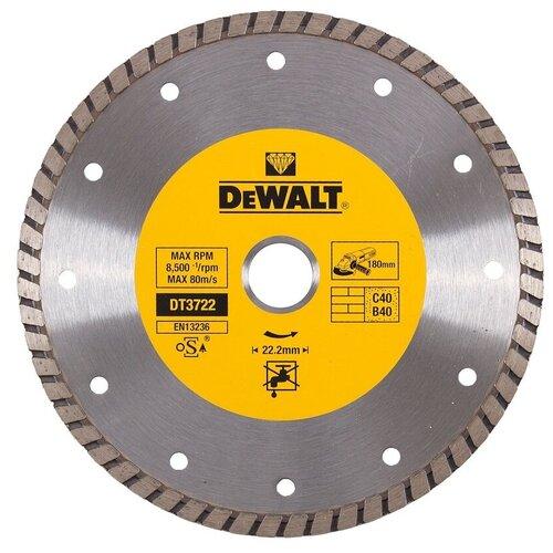 Диск алмазный отрезной DeWALT DT3722-QZ, 180 мм 1 шт. алмазный диск отрезной dewalt dt90294 125 x 22 2 h 12м dt90294 qz
