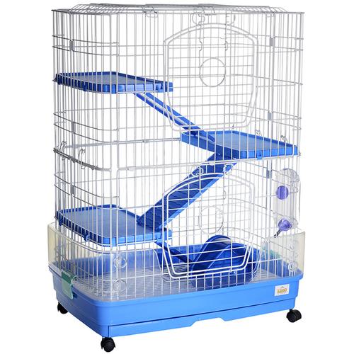 Клетка для грызунов, хорьков Kredo F12 68х46х92 см белый/синий недорого