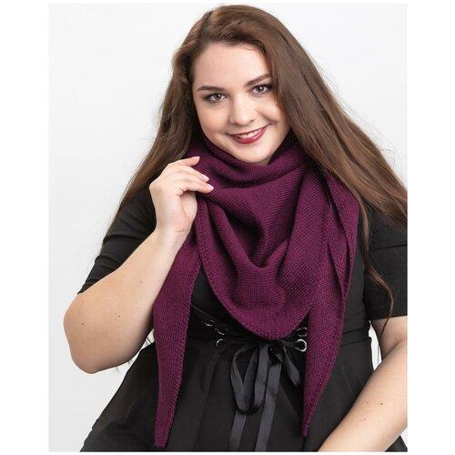 Женский теплый шарф-платок из шерсти, ТМ Reflexmaniya, RN168-Пурпурный.