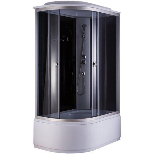 Душевая кабина Niagara NG 2510 R высокий поддон 120см*80см черный/белый/хром тонированное душевая кабина niagara premium ng 309 01nмозаик