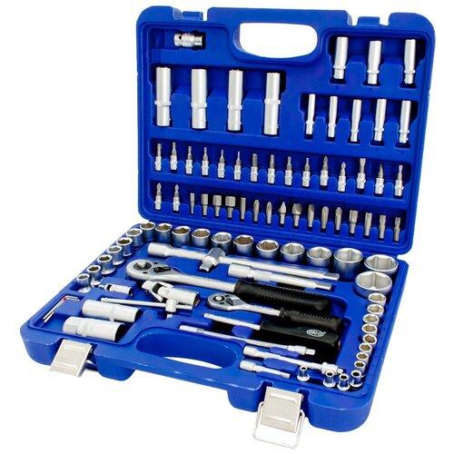 Фото - Набор автомобильных инструментов ALCA 414300, 95 предм., синий набор автомобильных инструментов союз 1048 10 s58c 58 предм синий