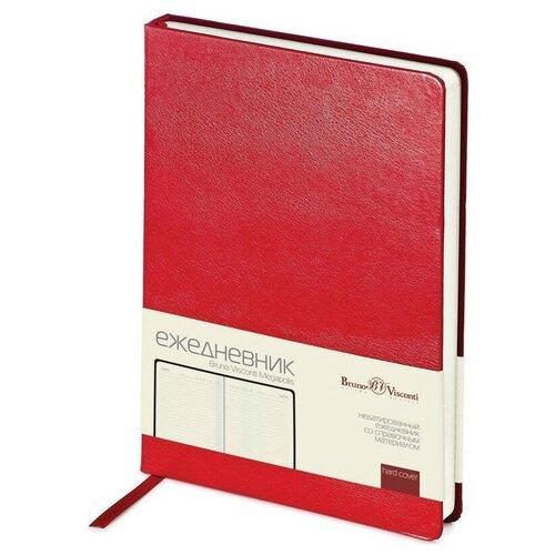 Купить Ежедневник недатированный Br.V.Megapolis, А5, 145х215, 160л (красный), Bruno Visconti, Ежедневники