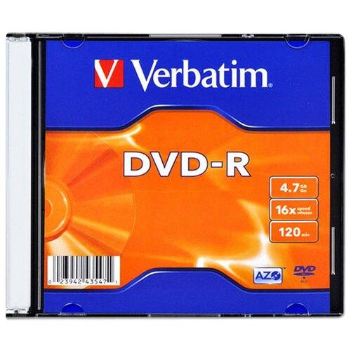 Фото - Диск Verbatim DVD-R 4,7Gb 16x slim, упаковка 20 штук диск verbatim dvd r 4 7gb 16x datalife shrink упаковка 50 штук