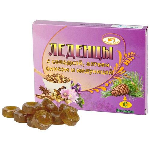 Леденцы Родники Сибири с солодкой, алтеем, анисом и медуницей, 32 г 1 шт.