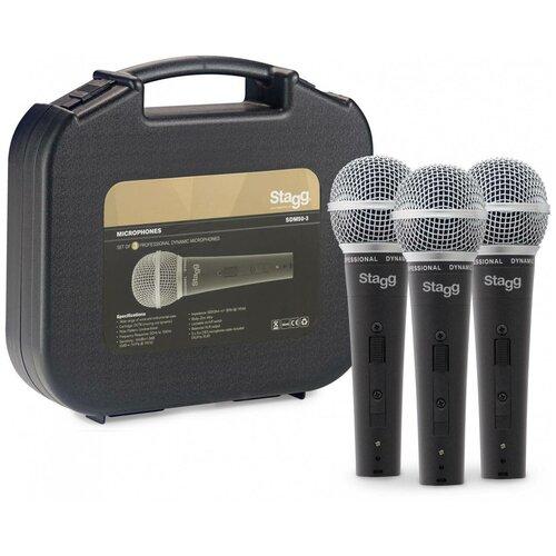 Комплект микрофонов Stagg SDM50-3, черный