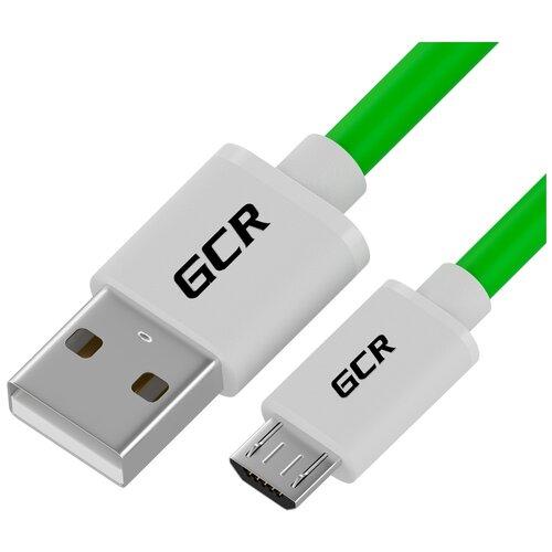 Кабель GCR USB - microUSB (GCR-UAQC2) 1 шт. зеленый 0.5 м
