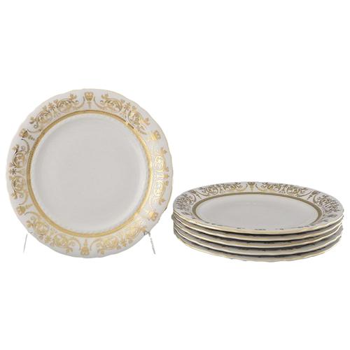 Набор тарелок мелких Соната Золотая элегантность, 25 см, 6 шт., Leander набор салатников соната золотая элегантность 16 см 6 шт 07161413 1373 leander