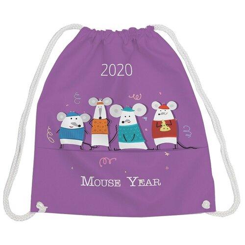JoyArty Рюкзак-мешок Мышиный год (bpa_185501) фиолетовый