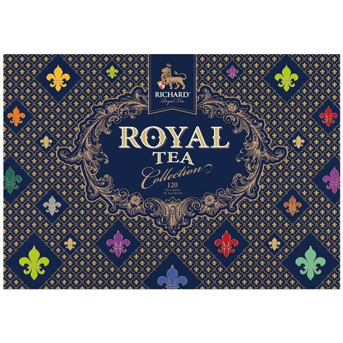 Чай Richard Royal tea collection ассорти в пакетиках подарочный набор, 120 шт. чай richard royal advent calendar ассорти в пирамидках подарочный набор 25 шт