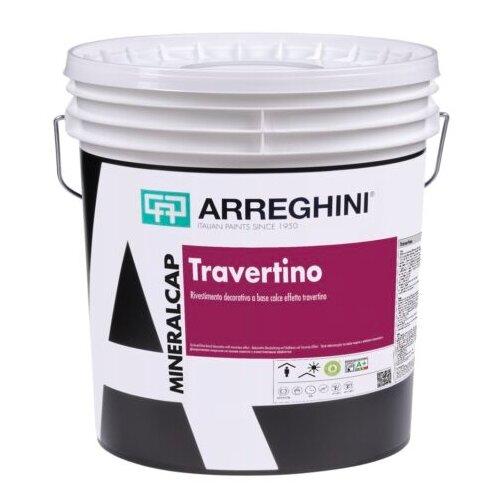Декоративное покрытие CAP ARREGHINI Travertino Cap белый 6 кг