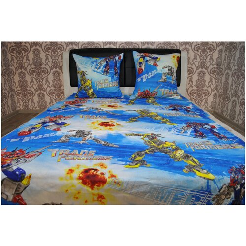 Детское постельное белье бязь артдизайн трансформеры 1,5 спальное детские расцветки