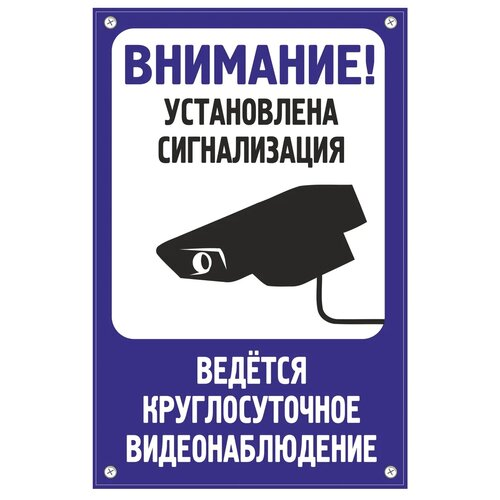 """Табличка TPS008 """"Сигнализация"""" пластик 3 мм30*195 см"""