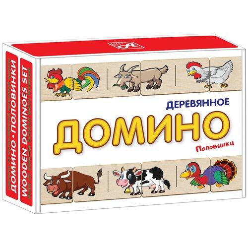 Настольная игра АНДАНТЕ Домино Половинки Домашние животные