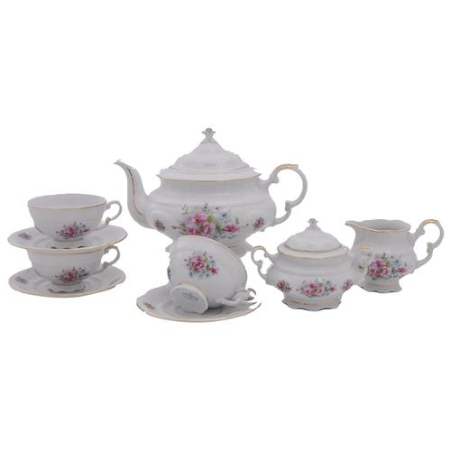 Фото - Сервиз чайный Соната Весенние цветы, 15 пр., Leander сервиз для торта соната весенние цветы 7 пр 07161019 0013 leander