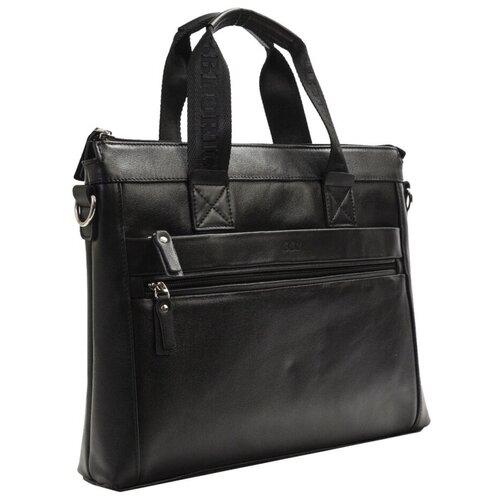Сумка мужская, деловой портфель, натур. кожа( черный) BB1