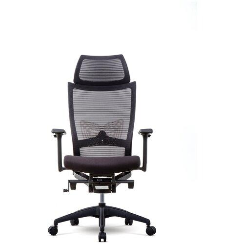 Эргономичное компьютерное кресло Schairs ZEN2-M01B BLACK