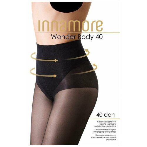 INNAMORE COLLANT Колготки Wonder Body 40 (nero, 2) (с высок. утягивающ.трусиками)