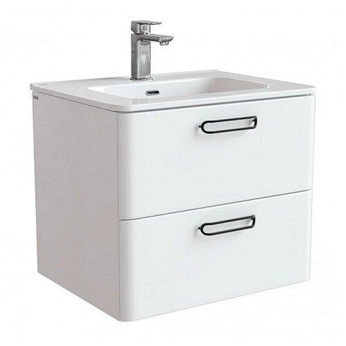 Тумба для ванной комнаты с раковиной IDDIS Brick, ШхГхВ: 60х47х50 см, цвет: белый тумба для ванной комнаты с раковиной iddis cloud шхгхв 100 3х45 5х50 см цвет белый