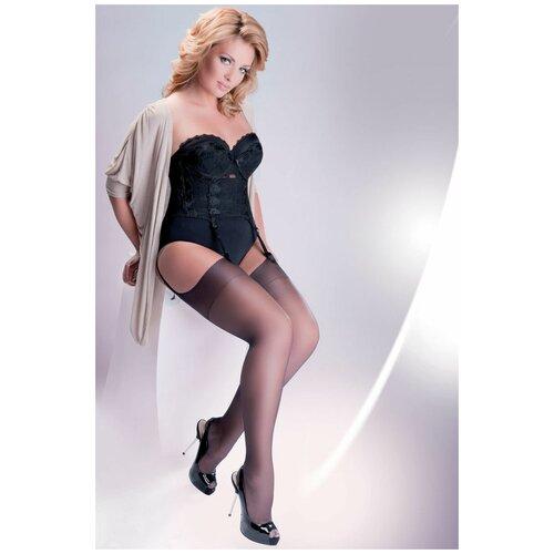 Gabriella Чулки под пояс Cher Plus Size 15 den, черный, 5-6 размер