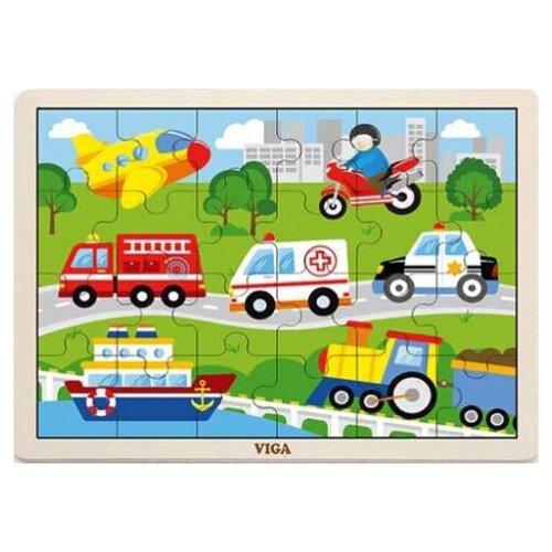 Фото - Пазл Транспорт24 детали в пленке. пазл для малышей viga транспорт 7 деталей звук