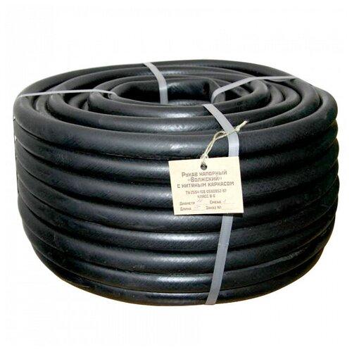 Шланг ГИДРОАГРЕГАТ поливочный резиновый кордовый Волжский эконом 16 мм 50 метров черный