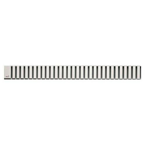 Решетка для лотков AlcaPlast LINE-750L нержавеющая сталь глянцевая решетка alcaplast code нержавеющая сталь глянцевая code 750l