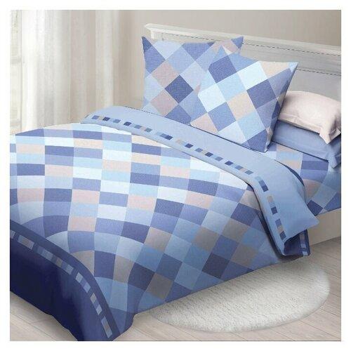 Постельное белье 1.5-спальное Спал Спалыч Твил, бязь, 70 х 70 см, синий