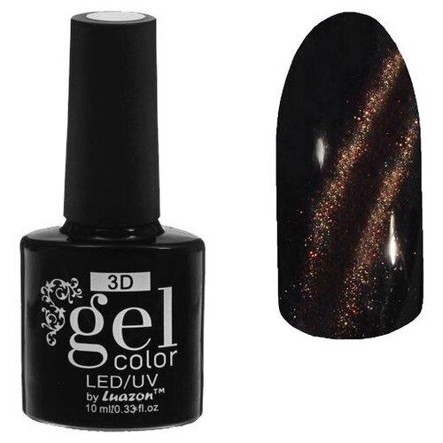 Купить Гель-лак для ногтей Luazon 3D Gel color, 10 мл, 28-055 тёмно-коричневый блестки