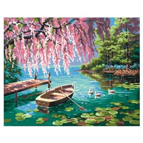 Цветной Картина по номерам Уточки и лодочка 40x50 см (GX9871) картина по номерам gx 9871 уточки и лодочка 40 50