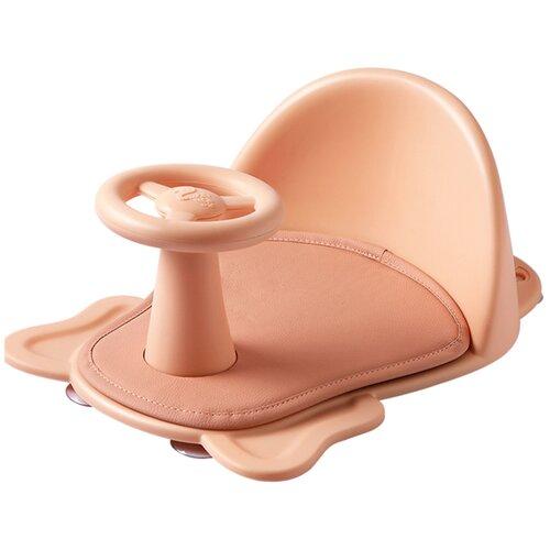 Купить Сиденье LaLa-Kids для купания с мягким ковриком Машинка розовое, Сиденья, подставки, горки