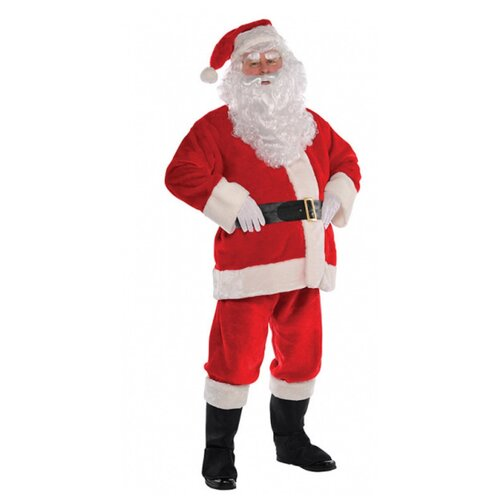 Костюм Санта-Клауса (плюш), размер 52-54.