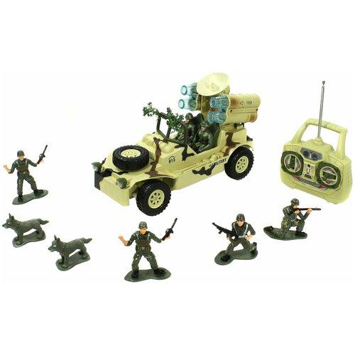 Купить Внедорожник Mioshi военный (MAR1207-005) 1:20 30 см бежевый/зеленый, Радиоуправляемые игрушки