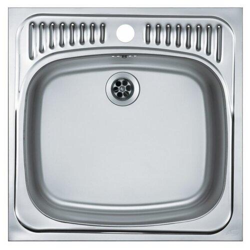 Врезная кухонная мойка 46.5 см ALVEUS Basic 130 нержавеющая сталь/satin кухонная мойка alveus basic 130 1008825 нержавеющая сталь