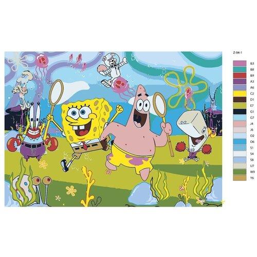 Картина по номерам «Спанч Боб и Патрик» 50х70 см (Z-94)