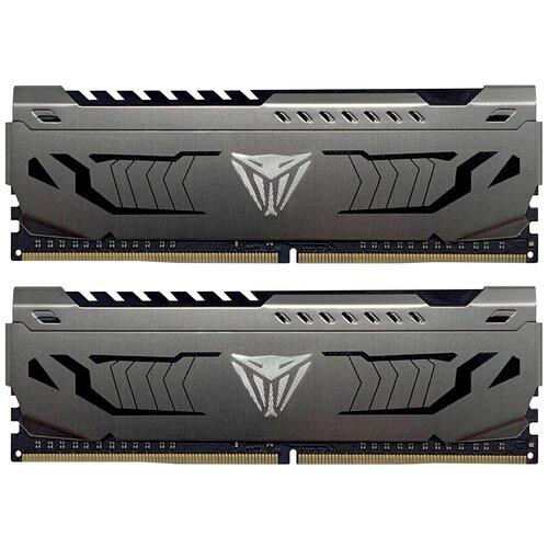 Фото - Оперативная память Patriot Memory VIPER STEEL 16GB (8GBx2) DDR4 3866MHz DIMM 288-pin CL18 PVS416G386C8K оперативная память patriot memory viper rgb 16gb 8gbx2 ddr4 4133mhz dimm 288 pin cl19 pvr416g413c9k