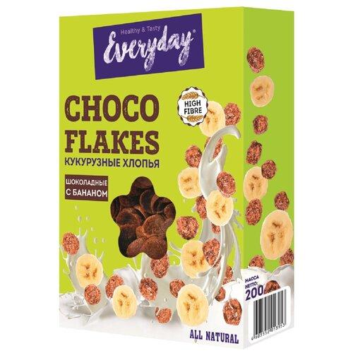 Фото - Готовый завтрак Everyday Хлопья кукурузные шоколадные с бананом, коробка, 200 г готовый завтрак tsakiris family лепестки шоколадные коробка 250 г