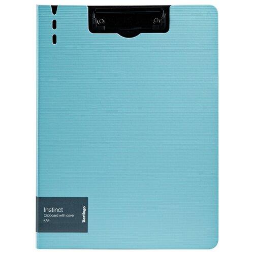 Berlingo Папка-планшет с зажимом Instinct A4, полифом аквамарин/черный