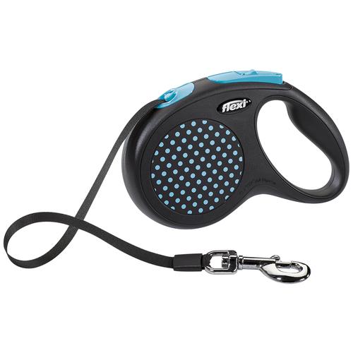 Фото - Поводок-рулетка для собак Flexi Design M ленточный синий 5 м поводок рулетка для собак flexi black design m ленточный зеленый 5 м