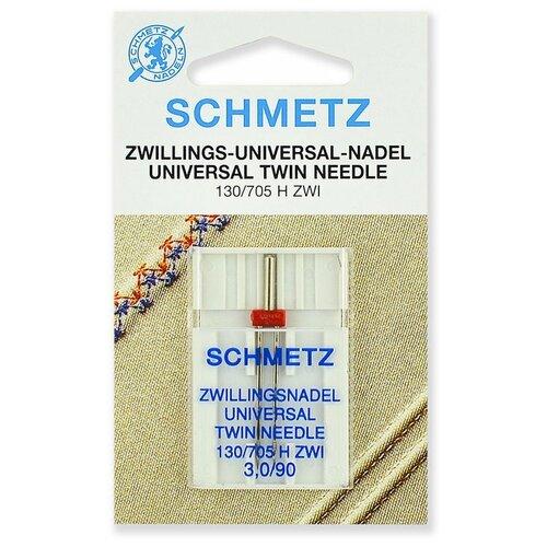 Игла/иглы Schmetz 130/705 H ZWI 3/90 двойная универсальная серебристый игла иглы schmetz 130 705 h zwi 4 90 двойные универсальные серебристый