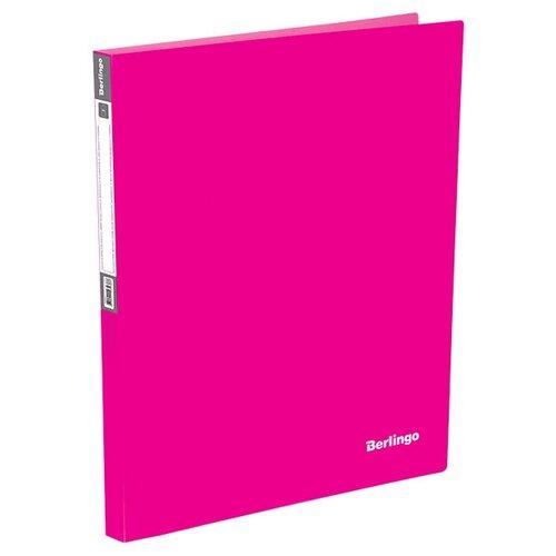 Фото - Berlingo Папка на 4-х кольцах Neon A4, 25 мм, 700 мкм, пластик розовый berlingo папка с 20 вкладышами neon a4 14 мм 700 мкм пластик зеленый