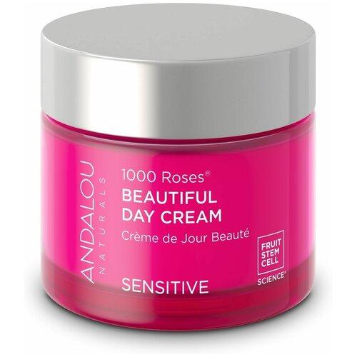 Купить Andalou Naturals 1000 Roses Sensitive Beautiful Day Cream Крем Дневной для лица, 50 г