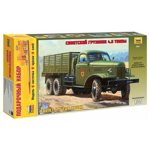 Сборная модель ZVEZDA Советский грузовик 4,5 тонны (ЗиС-151) (3541PN) 1:35 сборная модель zvezda советский грузовик 4 5 тонны зис 151 3541 1 35
