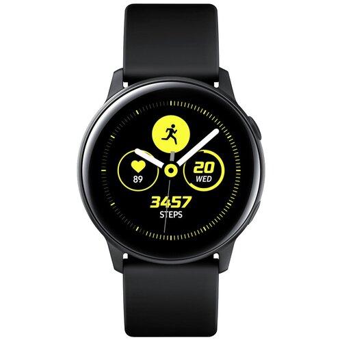 Умные часы Samsung Galaxy Watch Active, черный сатин