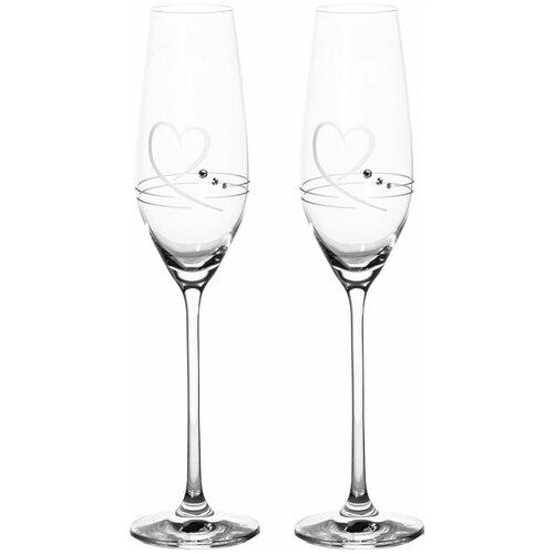 Набор бокалов для шампанского (2 шт) RONA