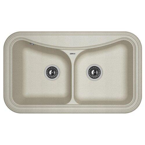 Врезная кухонная мойка 86 см FLORENTINA Крит-860 FS грей врезная кухонная мойка 86 см florentina крит 860 fs бежевый