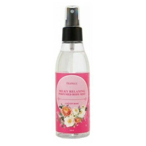Спрей для тела Deoproce Milky Relaxing Perfumed Body Mist (Cotton Rose)