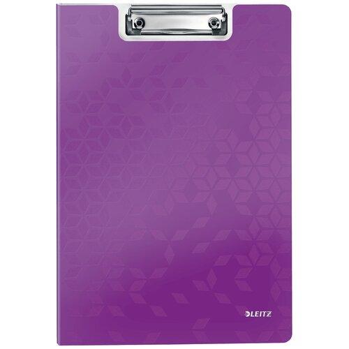 Leitz Папка-планшет с верхним прижимом WOW A4, полифом фиолетовый